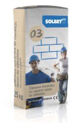 Zaprawa murarska do cienkich spoin do silikatów na cemencie szarym 0.3